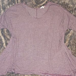 Soft, Oversized, Barely Worn, Purple and White Tee